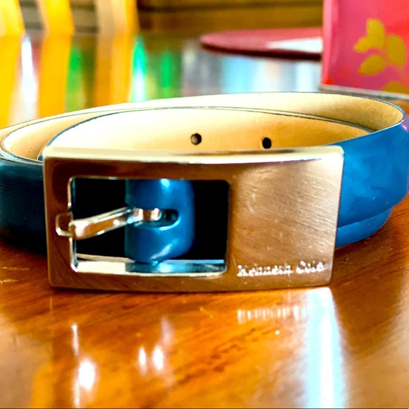 Kenneth Cole Belt - Blue Leather
